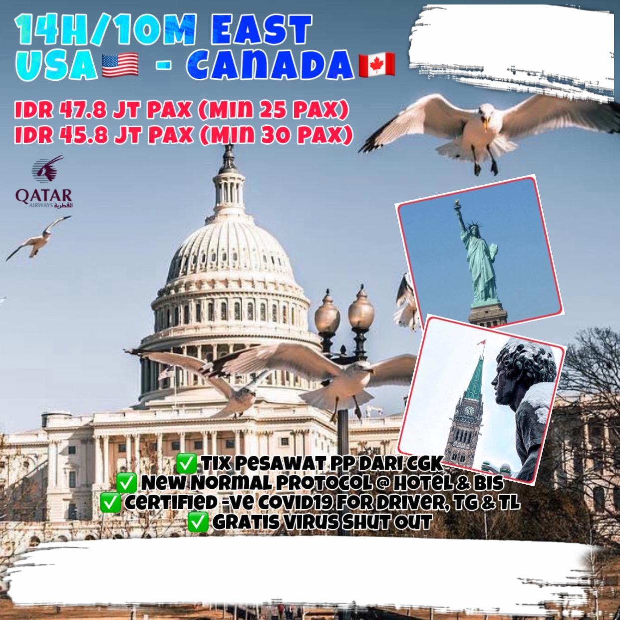 14H/10M EAST USA - CANADA