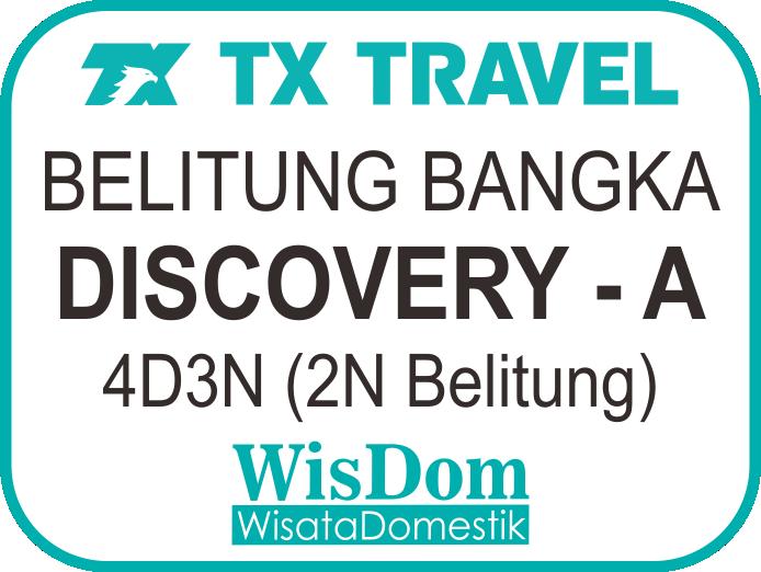 FIT BELITUNG BANGKA Discovery-A 4D3N (2N Belitung, min.02pax)