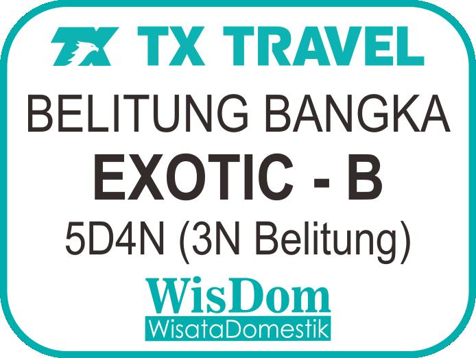 FIT BELITUNG BANGKA Exotic-B 5D4N (3N Belitung, min.02pax)