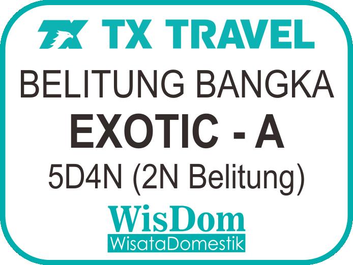 FIT BELITUNG BANGKA Exotic-A 5D4N (2N Belitung, min.02pax)