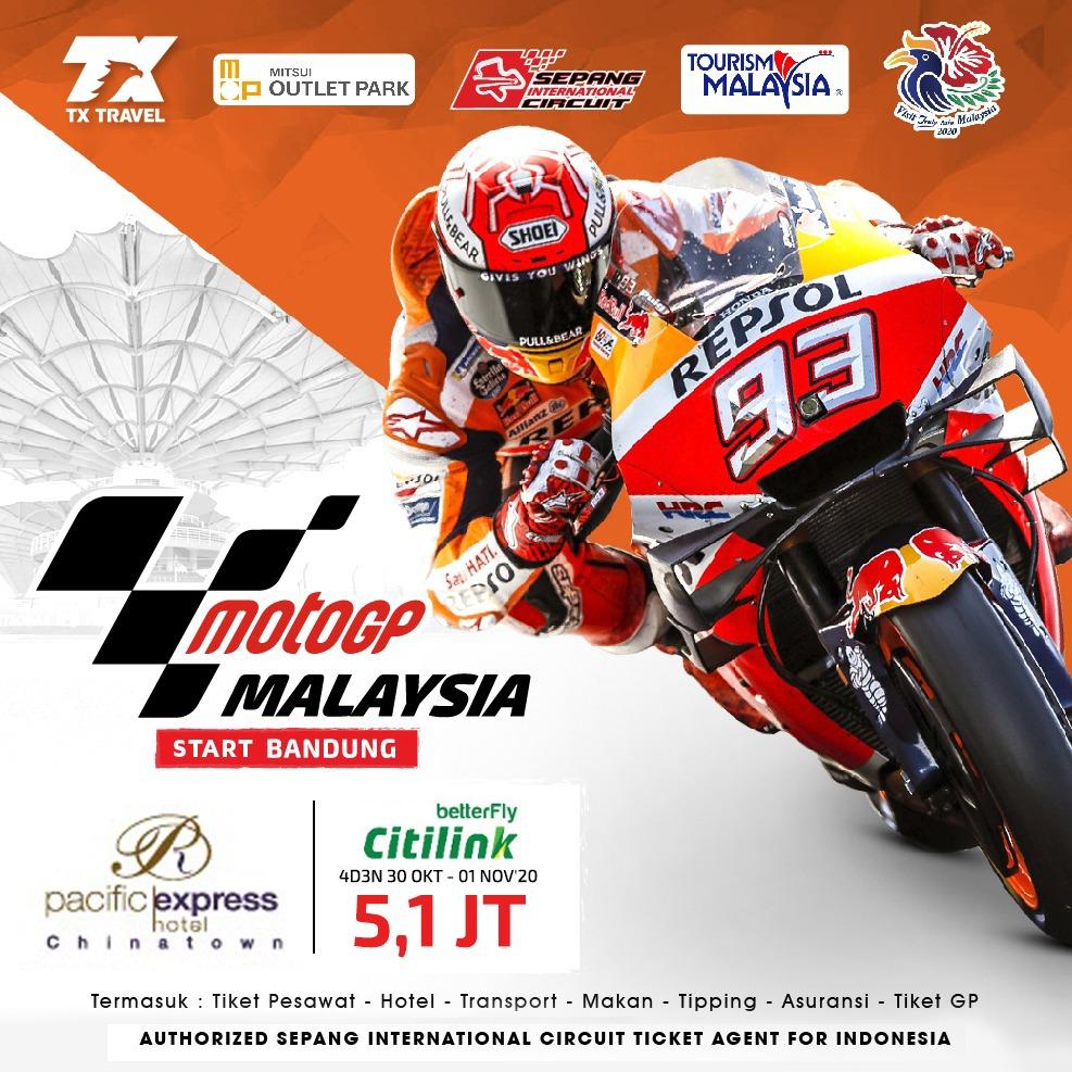 MotoGP Sepang 4D3N by. QG (BDG) IDR 5.100.000,-