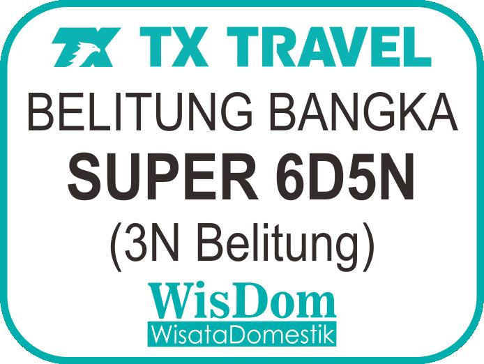 FIT BELITUNG BANGKA Super 6D5N (3N Belitung, min.02pax)