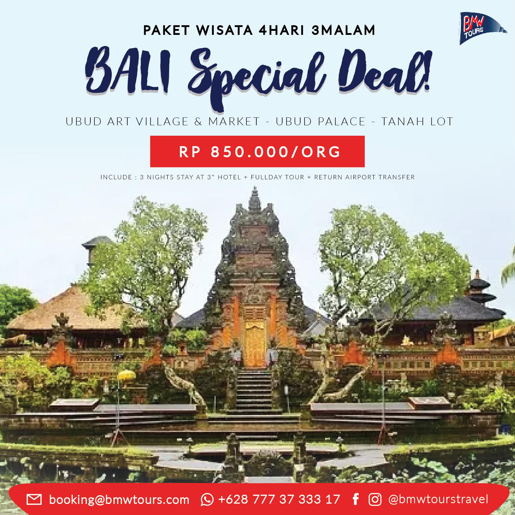4D3N BALI SPECIAL DEAL